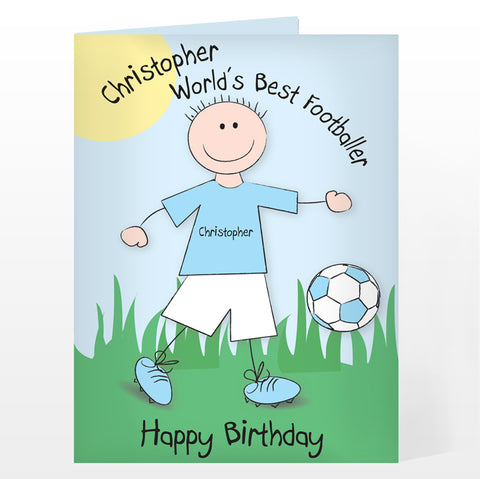 Buy Personalised Worlds Best Footballer Card