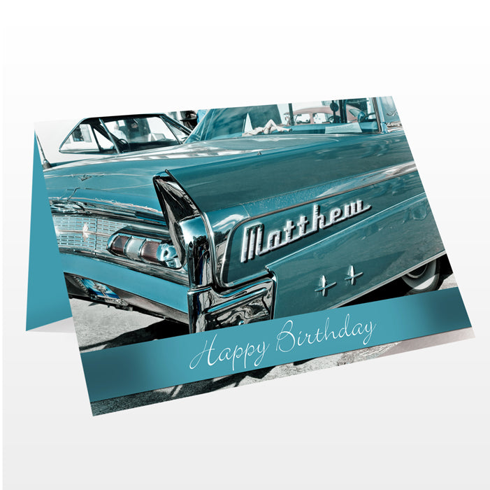Personalised Retro Car Card, Greeting & Note Cards by Low Cost Gifts