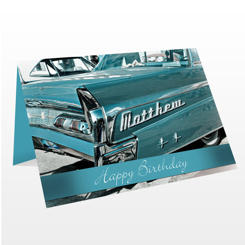 Buy Personalised Retro Car Card