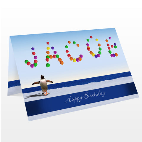 Buy Personalised Balloon Card