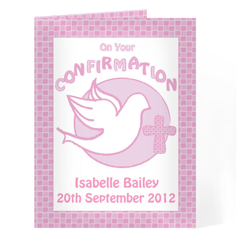 Buy Personalised Confirmation Card-Pink