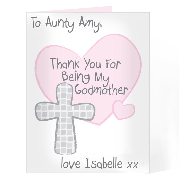 Personalised Godmother Card, Greeting & Note Cards by Low Cost Gifts