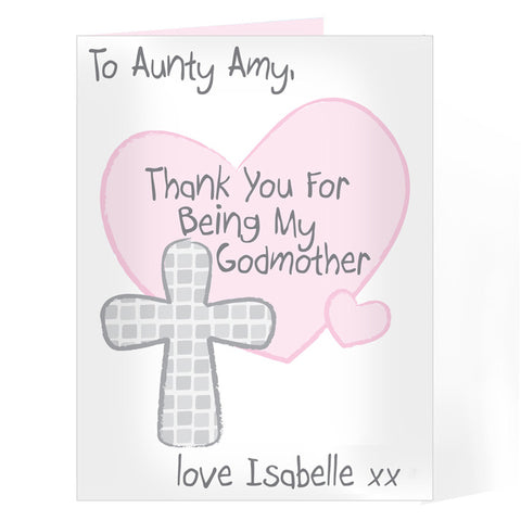Personalised Godmother Card