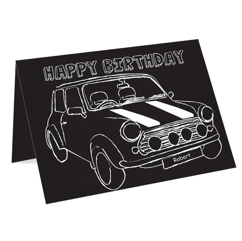 Buy Personalised Black & White Mini Card