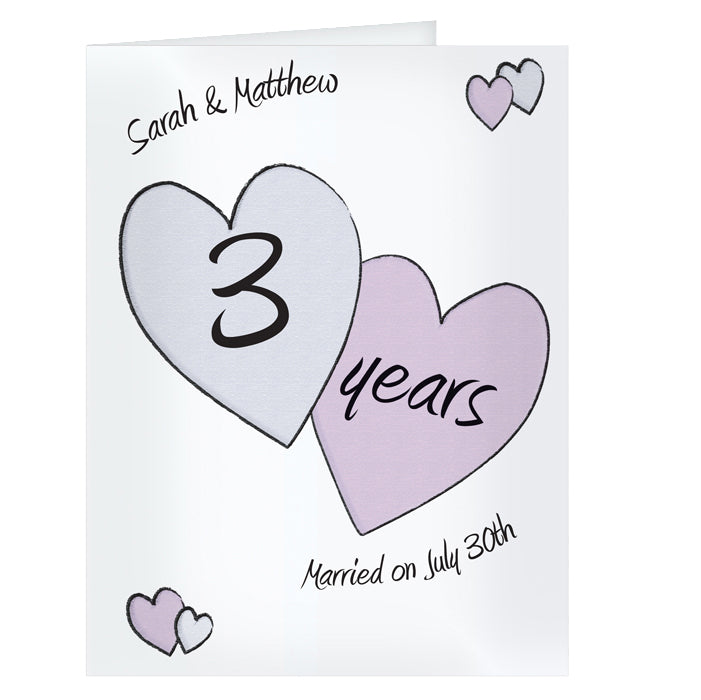 Personalised Perfect love Anniversary Card