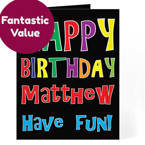 Buy Personalised Happy Birthday Bright Card