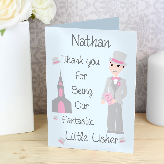 Buy Personalised Fabulous Page Boy Card