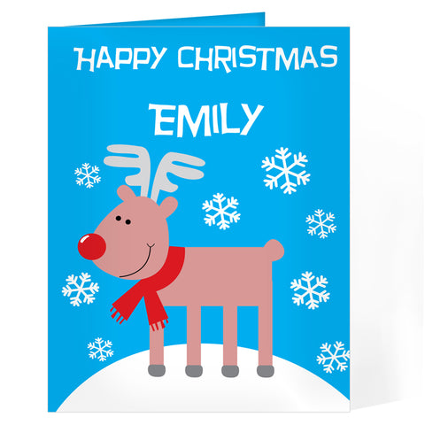 Personalised Rudolph Card | ShaneToddGifts.co.uk