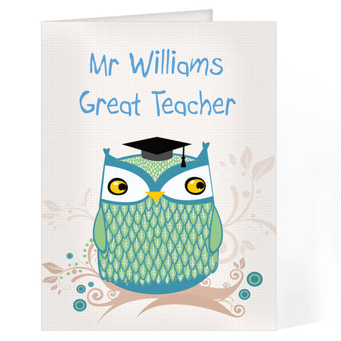 Personalised Mr Owl Card - Shane Todd Gifts UK