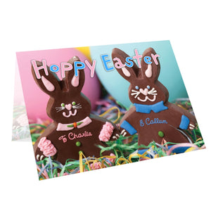 Personalised Milk Chocolate Bunny Card