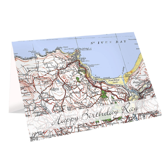 Personalised 1919 - 1926 Popular Edition Map Card