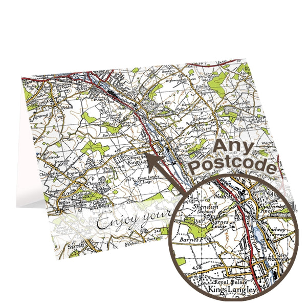 Personalised 1945 - 1948 New Popular Map Card
