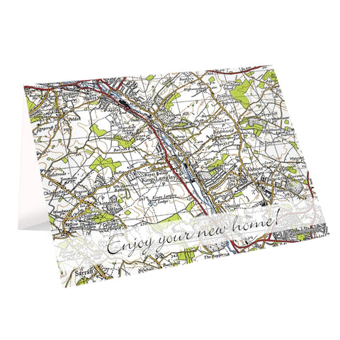 Buy Personalised 1945 - 1948 New Popular Map Card