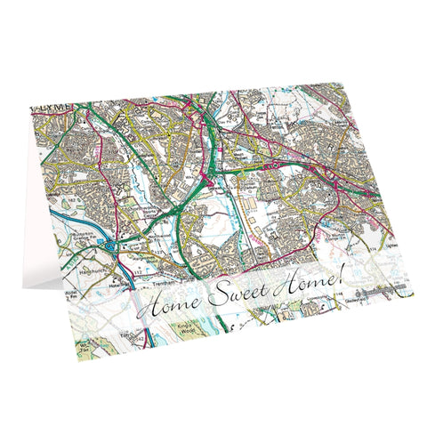 Personalised Present Day Map Card
