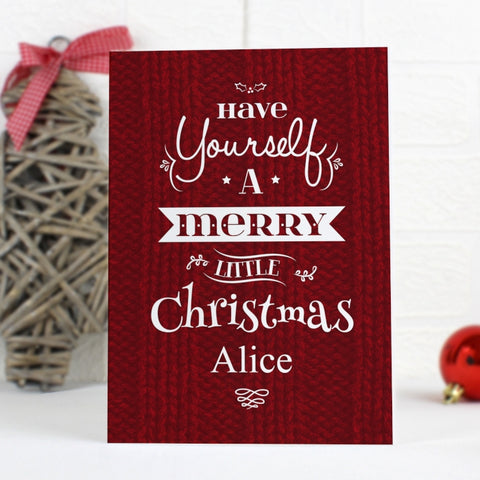 Personalised Have Yourself A...Card | ShaneToddGifts.co.uk
