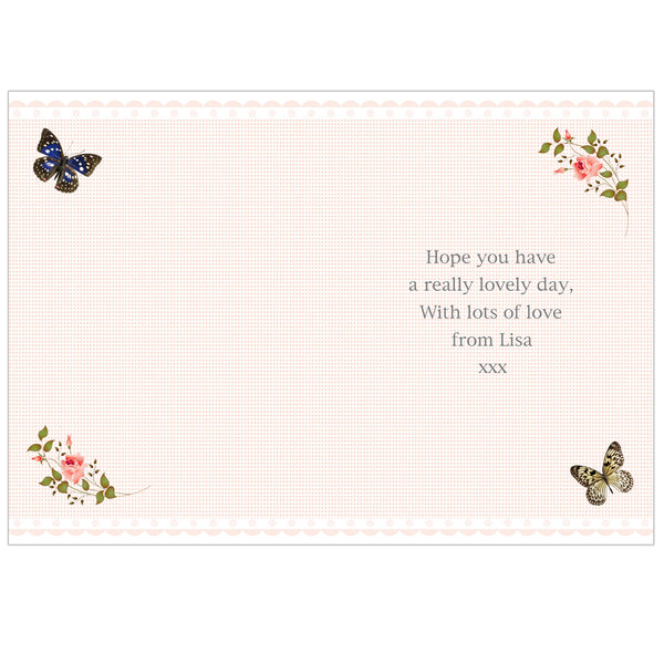 Personalised Delicate Butterfly Card