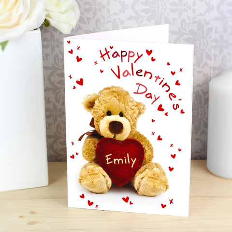 Personalised Teddy Heart Card | ShaneToddGifts.co.uk