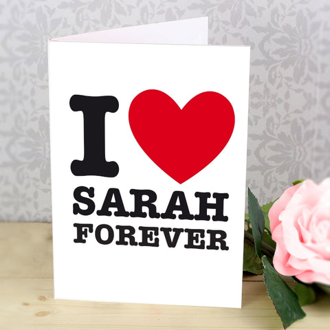 Personalised I HEART Card | ShaneToddGifts.co.uk