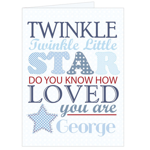Personalised Twinkle Boys Card