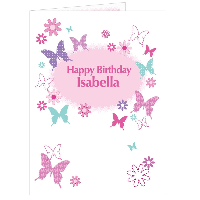 Personalised Butterfly Card