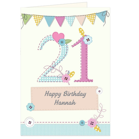 Buy Personalised Birthday Craft Card