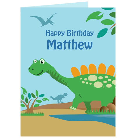 Buy Personalised Dinosaur Card