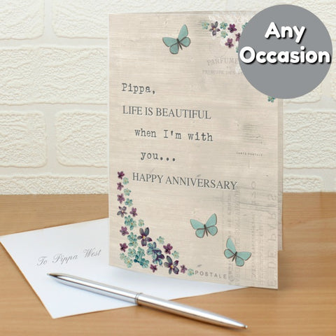 Buy Personalised Forget Me Not Card