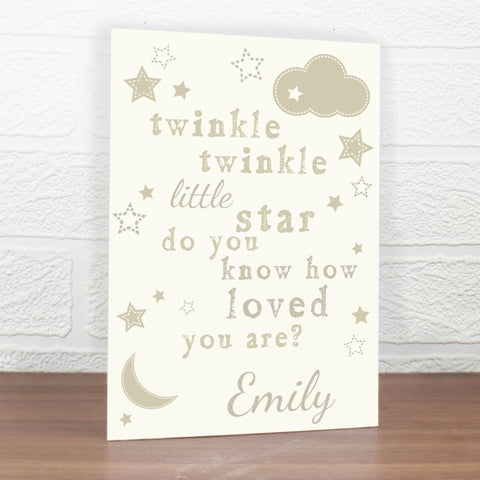 Buy Personalised Twinkle Twinkle Card