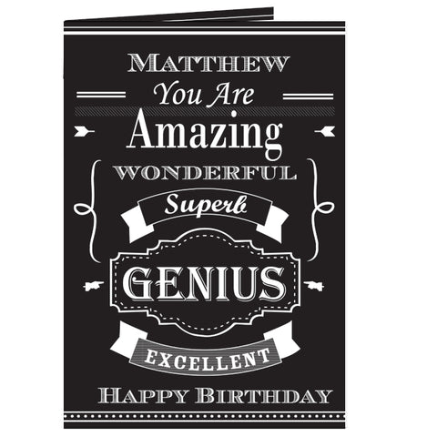 Personalised Vintage Typography Card | ShaneToddGifts.co.uk