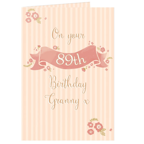 Buy Personalised Floral Scroll Card