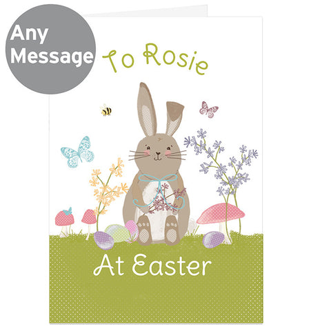 Personalised Easter Meadow Bunny Card - Shane Todd Gifts UK
