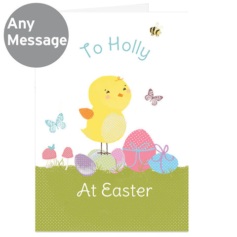 Personalised Easter Meadow Chick Card - Shane Todd Gifts UK