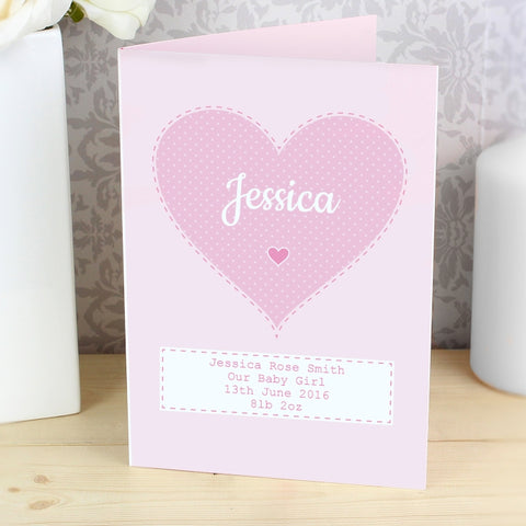 Personalised Stitch & Dot Girls Card | ShaneToddGifts.co.uk