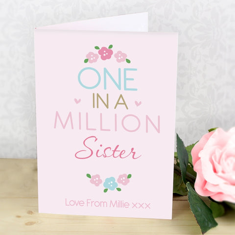 Buy Personalised One in a Million Card