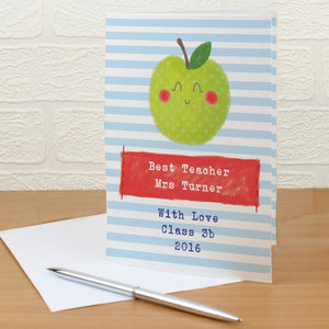 Personalised Happy Apple Card