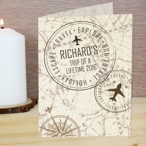 Buy Personalised Travel Stamp Card