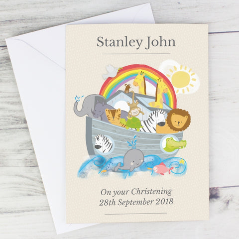 Personalised Noah's Ark Card | ShaneToddGifts.co.uk