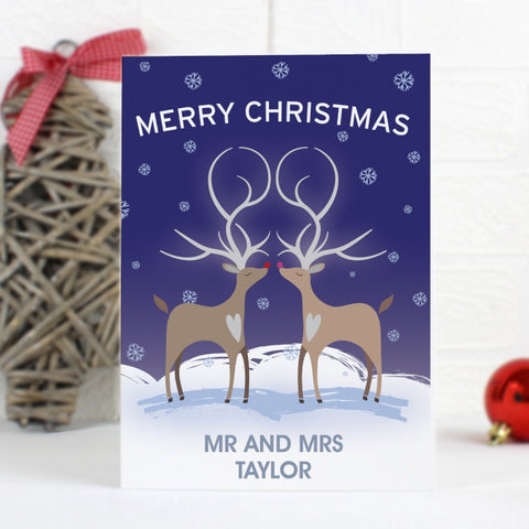 Personalised Reindeer Couple Card | ShaneToddGifts.co.uk