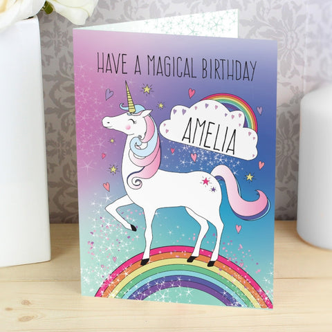 Personalised Unicorn Card - Shane Todd Gifts UK