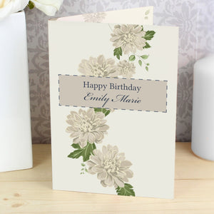 Personalised Gold Floral Card