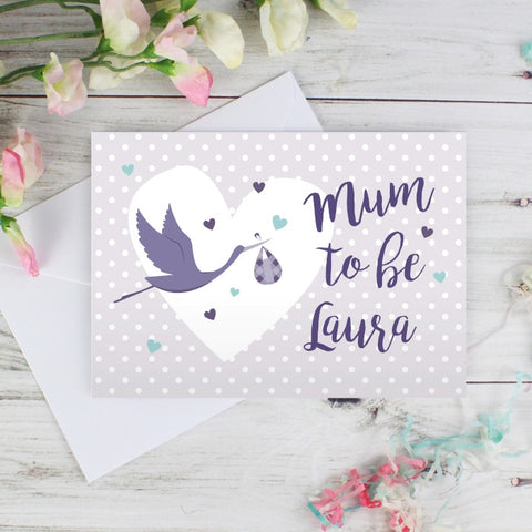 Personalised Mum to Be Stork Card - Shane Todd Gifts UK