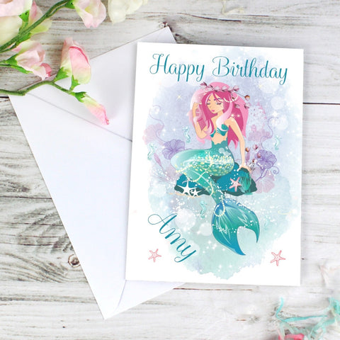 Buy Personalised Mermaid Card
