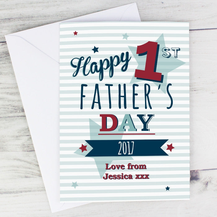 Buy Personalised 1st Fathers Day Card