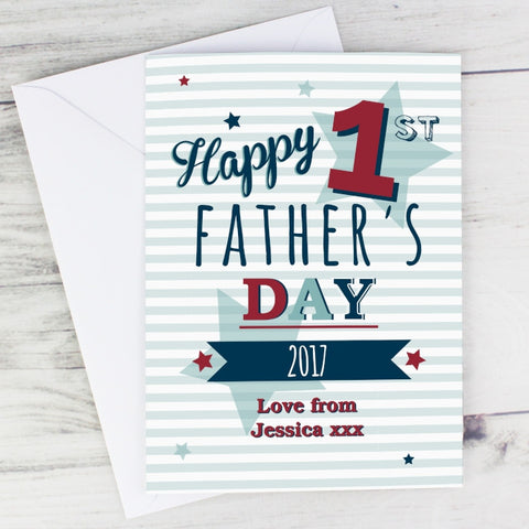 Personalised 1st Fathers Day Card - Shane Todd Gifts UK