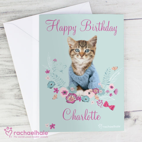 Personalised Rachael Hale Cute Kitten Card | ShaneToddGifts.co.uk