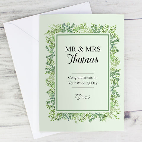 Personalised Fresh Botanical Card
