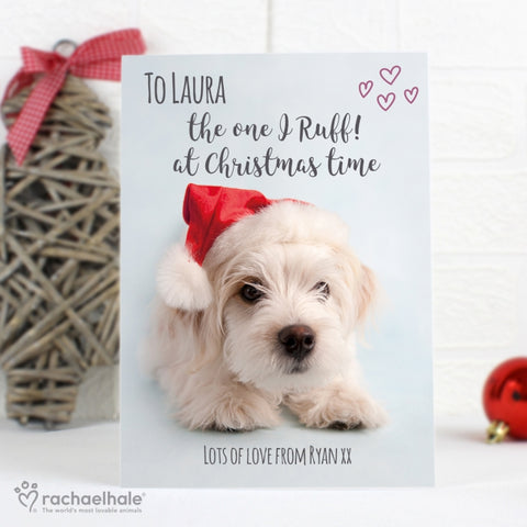 Personalised Rachael Hale Terrier Christmas Card | ShaneToddGifts.co.uk