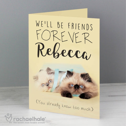 Personalised Rachael Hale Friends Forever Card