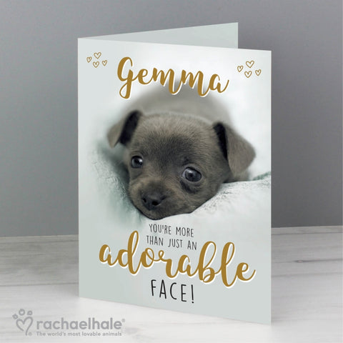 Personalised Rachael Hale Adorable Face Card | ShaneToddGifts.co.uk