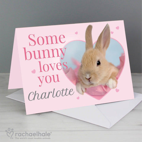 Personalised Rachael Hale 'Some Bunny' Card | ShaneToddGifts.co.uk